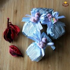 Bebekli Çiçek Baston (Mavi)