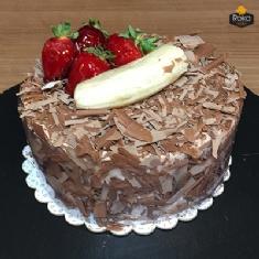 Çikolata Çilek-Muz Pasta 1 No