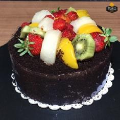 Meyveli - Çikolatalı Pasta 1 No