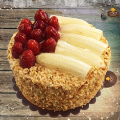 Çilekli - Muzlu Pasta 0 No