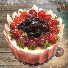 Frambuazlı - Böğürtlenli (Aşk) Pasta 1 No