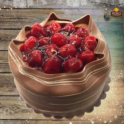 Çikolatalı - Çilekli Pasta 1 No