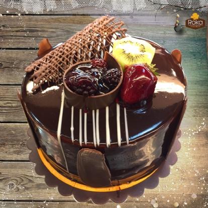 Böğürtlenli - Çikolatalı Pasta 0 No
