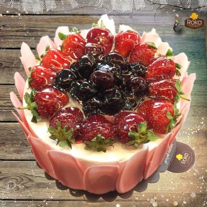 Frambuazlı - Böğürtlenli (Aşk) Pasta 2 No
