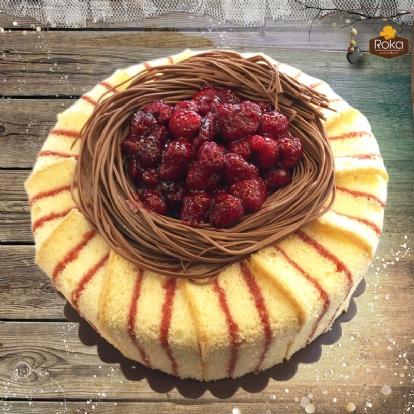 Frambuaz (Kuş Yuvası) Pasta 1 No